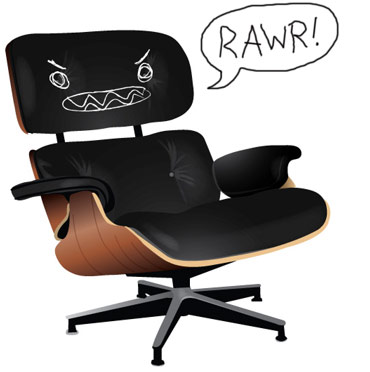 Angry Eames Chair