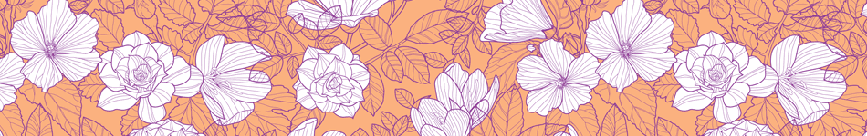 Peach floral background