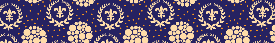 Regal Dots Fleur-de-Lis Background
