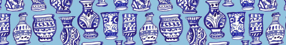 Blue Vases Background