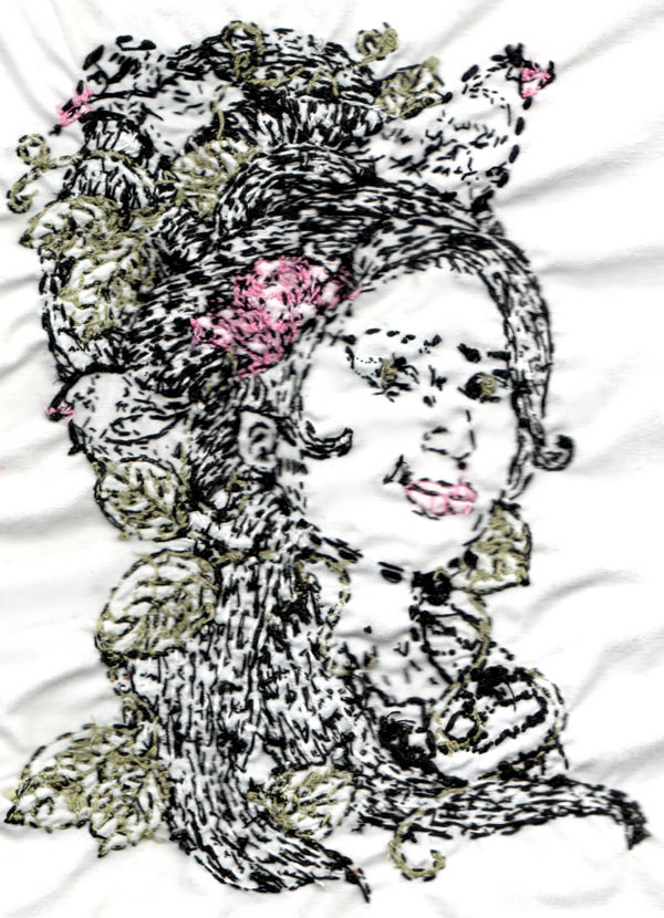 Amy Winehouse embroidery- back